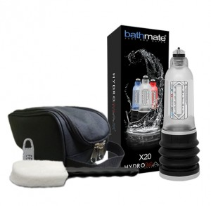 Bathmate X20 Hydromax Kit (Includes Free Cleaning Brush, Storage Bag & Combination Lock)
